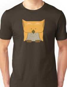 So cute Owl in orange Unisex T-Shirt