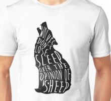 Wolves don't lose sleep over the opinion of sheep - version 1 - no background Unisex T-Shirt