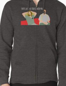 The Big Lebowski - Just Your Opinion Man Zipped Hoodie