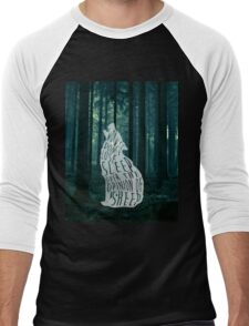 Wolves don't lose sleep over the opinion of sheep - version 2 - with background Men's Baseball ¾ T-Shirt