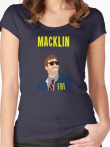 Burt Macklin FBI - Parks and Recreation Women's Fitted Scoop T-Shirt