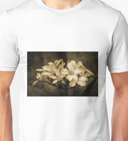 Frangipani in Sepia Unisex T-Shirt