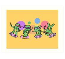 Hovering Turtles! Art Print
