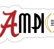 2016 National Champions Alabama Crimson Tide Sticker