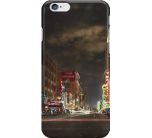 City - Dallas TX - Elm street at night 1941 iPhone Case/Skin
