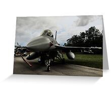 F16 jet fighter Greeting Card