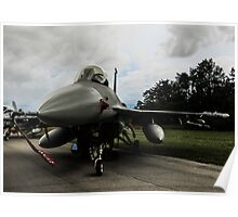 F16 jet fighter Poster