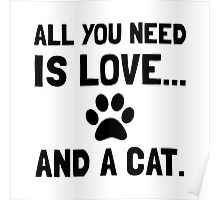 Love And A Cat Poster