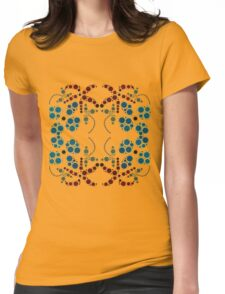 Flower Symmetry 70's Womens Fitted T-Shirt