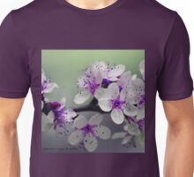 Purple Cherry Blossom Unisex T-Shirt