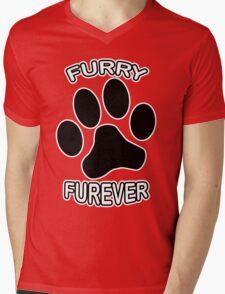 Furry Furever Mens V-Neck T-Shirt