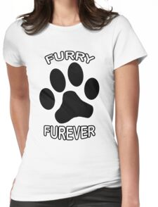 Furry Furever Womens Fitted T-Shirt