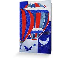 Hot Air Balloon Red White and Blue Greeting Card