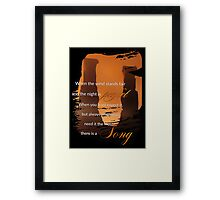 Singing Towers, There is a Song, Doctor Who Framed Print