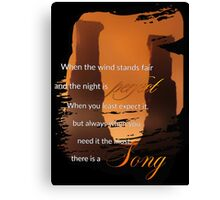 Singing Towers, There is a Song, Doctor Who Canvas Print