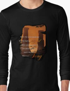 Singing Towers, There is a Song, Doctor Who Long Sleeve T-Shirt