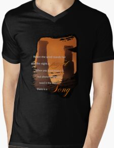 Singing Towers, There is a Song, Doctor Who Mens V-Neck T-Shirt