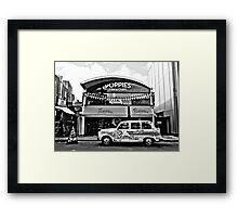 Camden Town London Taxi (Black and White) Framed Print