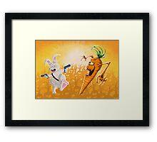 Bad Wabbit vs. Killer Carrots Framed Print