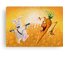 Bad Wabbit vs. Killer Carrots Canvas Print