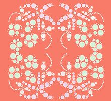 Flower Symmetry Peach Echo by 8-Bit-Wonder