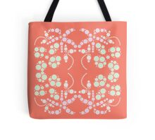 Flower Symmetry Peach Echo Tote Bag