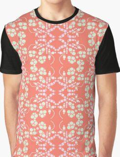 Flower Symmetry Peach Echo Graphic T-Shirt