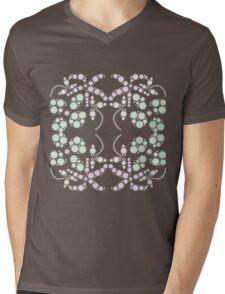 Flower Symmetry Peach Echo Mens V-Neck T-Shirt