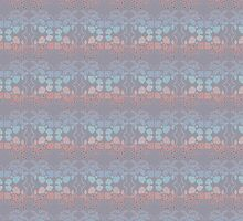 Flower Symmetry Lilac Gray by 8-Bit-Wonder