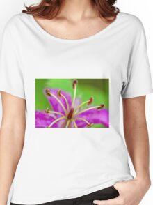 Macro Purple Wild Flower 1 Women's Relaxed Fit T-Shirt