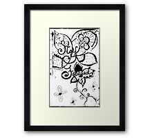 Rachel Doodle Art - Stay Focused Framed Print
