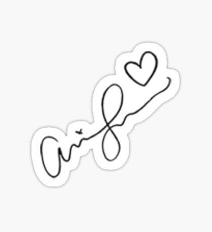 Ariana Grande Signature  Sticker