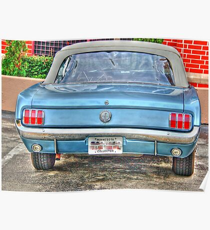 1965 Mustang-rear view Poster