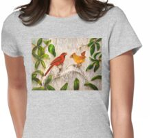 Cardinal birds - Singing of love Womens Fitted T-Shirt