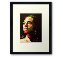 The girl from Brazil Framed Print