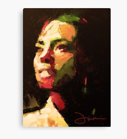 The girl from Brazil Canvas Print