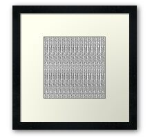 Knit Outline Framed Print