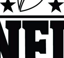 NFL black and white Sticker