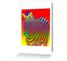 Psychedelic Zebra Greeting Card