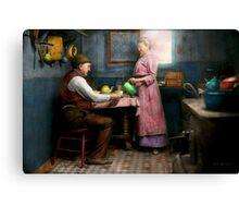 Kitchen - Morning Coffee 1915 Canvas Print