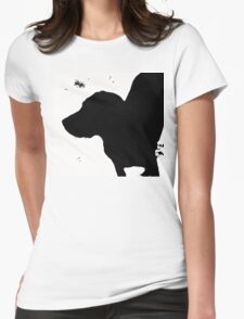 Dog in a Blizzard Womens Fitted T-Shirt