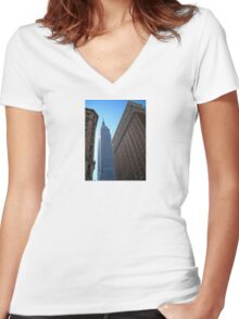 Empire State Building Women's Fitted V-Neck T-Shirt