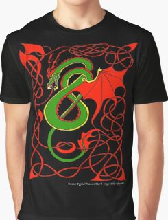 Red and Green Celtic Dragon Graphic T-Shirt