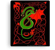 Red and Green Celtic Dragon Canvas Print