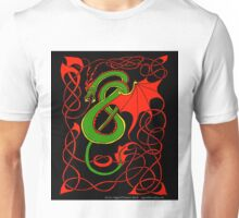 Red and Green Celtic Dragon Unisex T-Shirt