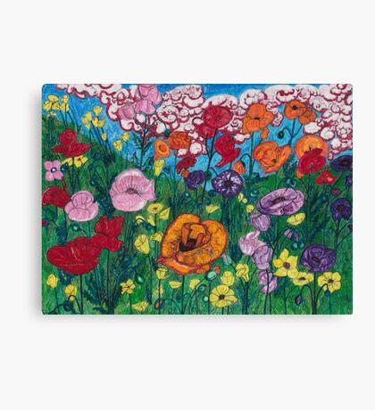 eye, poppy Canvas Print