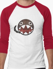 [Super Mario] Chain Chomp Men's Baseball ¾ T-Shirt