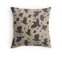 Flight of Ravens Throw Pillow