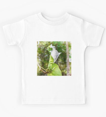 Unfolding beauty of a Butterfly tree flower Kids Tee