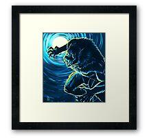 Blood Moon (Blue version) Framed Print